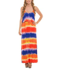 Love this Coveted Clothing Orange & Blue Tie-Dye Maxi Dress - Women by Coveted Clothing on #zulily! #zulilyfinds