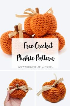 Quick and easy crochet pumpkin pattern for Fall! Make these cute pumpkins for your home in all the colors you can for stylish Fall decor!
