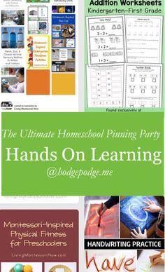 Hands On Learning at The Ultimate Homeschool Pinning Party