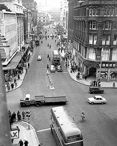 Church street/ lord street junction 1960s Liverpool History, Liverpool Street, Holy Cross, Old Photos, How To Memorize Things, The Past, Lord, Architecture, City