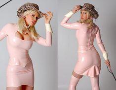 セクシー ピンク OL ラテックススーツ レディススーツ 全身タイツ キャットスーツ