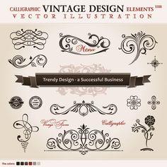 クラシカルなデザインが魅力的! 主にカリグラフィースタイルで似た感じのデコレーションを集めました…