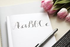 Handlettering Tipps 2: Faux Calligraphy lernen - Rosy & Grey