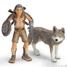 Schleich Bayala Gregis, man & wolf