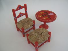 Scandinavian Dollhouse Furniture Red. $15.00, via Etsy.