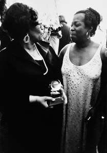Ella Fitzgerald and Sarah Vaughn~ Powerhouse women! <3