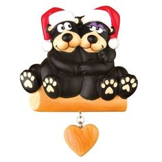 Personalized by Santa Bear Family Shaped Ornament Number Of: 2