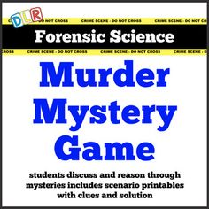Forensic Science: Murder Mystery Activity