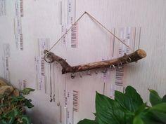 Driftwood jewelry organizer wall hanging jewelry display | Etsy Jewelry Wall, Jewelry Organizer Wall, Hanging Jewelry, Wall Organization, Jewelry Stand, Jewelry Organization, Boho Jewelry, Boho Bedroom Decor, Bohemian Decor