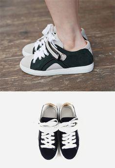 tritone low cut sneakers // Miamasvin loves u! Womens Clothing. Korean Fashion.