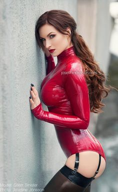 "latexandfetish: "" _Sinister red III. by josefinejonssonphoto "" http://bluewatergirl.tumblr.com/ red"