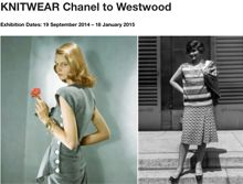 Modeconnect.com Lists #London #Art & #Fashion #Exhibitions - Check 'KNITWEAR Chanel to Westwood' at the Fashion and Textile Museum till Jan 18.