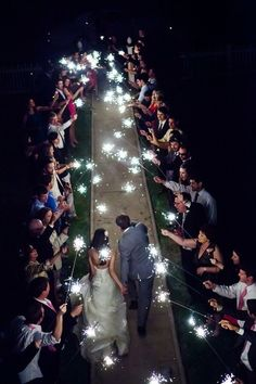 Sparkler exit. So doing this!