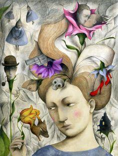 Pinzellades al món: Ana Juan Illustration Story, Fantasy Illustration, Illustrations, Spanish Art, Pop Surrealism, Surreal Art, Design Crafts, Contemporary Artists, Female Art
