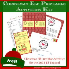 Christmas Elf Printable Activities Kit - Enchanted Homeschooling Mom