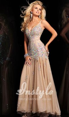 Price tracker and history of vestidos de noche Champagne Rhinestone Mermaid  Evening Prom Dresses Hand Sewing Crystal Gown robe de soiree 2017 Formal  Stylish 96ea0b8f168e