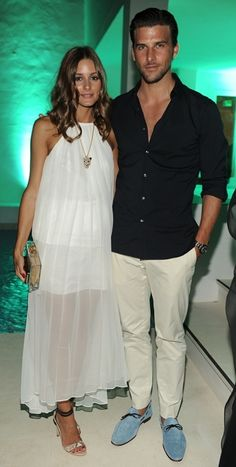 Olivia Palermo and Johannes Huebl at Magda Pozzo's Ibiza Glamour Partyㅣ August, 2012