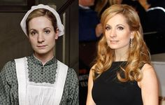 The cast of 'Downton Abbey' without the costumes.....I adore her