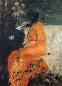 Giuseppe De Nittis - Il kimono color arancio - 1883-1884