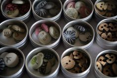buttons in a tin