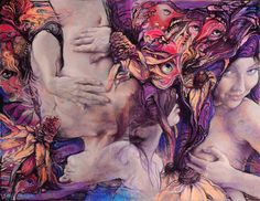 "Saatchi Art Artist: Graszka Paulska; Pastel 2009 Drawing ""color vertigo"""