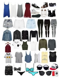 """""""Untitled #665"""" by mariel0708 on Polyvore featuring Chicnova Fashion, H&M, Topshop, RVCA, T By Alexander Wang, Sans Souci, Junk Food Clothing, Velvet by Graham & Spencer, Madewell and New Look"""