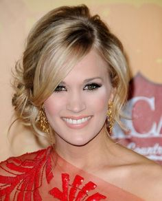 Carrie Underwood side bun hairstyles