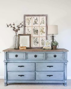 natural shade variations in the wood and adds just a hint of gray. It's Refurbished Furniture, Farmhouse Furniture, Shabby Chic Furniture, Furniture Makeover, Painted Furniture, Diy Furniture, Acrylic Furniture, Dresser Makeovers, Space Furniture