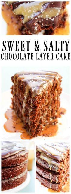 SWEET & SALTY CHOCOLATE LAYER CAKE