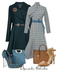 """""""Check With Flare"""" by apostolicchickie ❤ liked on Polyvore featuring Ted Baker, Rochas, Christian Louboutin, Casadei, DKNY, Isabella Oliver, women's clothing, women's fashion, women and female"""