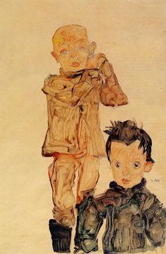 Two Boys (1910), Egon Schiele