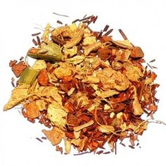 This tea is a blend of organic Rooibos,cinnamon, cardamom,ginger and vanilla. You can have a perfect cup of chai with all the goodness of spices without drinking real caffeine:http://www.organicteaetc.com/products/organic-herbal-chai/