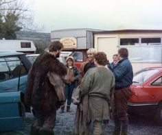 On set Kidwelly Castle. Picture credit: Bob Dixon