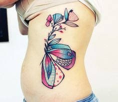 Abstract Insect Tattoo by Bumpkin Tattoo | Tattoo No. 13236