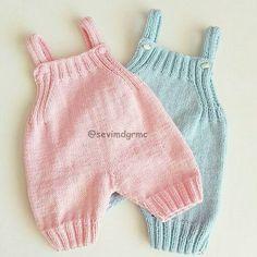 Hobilerim ve ben: Bebek Tulumları Baby Knitting Patterns, Baby Patterns, Sewing Patterns, Crochet Baby Pants, Knitted Romper, Boy Crochet, Baby Pants Pattern, Baby Overalls, Baby Sweaters