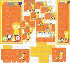 kit imprimible de cumpleaños de niño