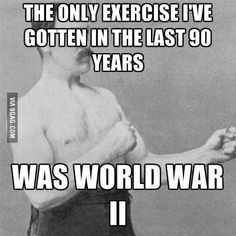 """""""Granddad said this at his 90th birthday party."""" Overly Manly Man Memes Humor, Gym Humor, Crossfit Humor, Fitness Humor, Funny Stuff, Beer Funny, Funny Man, Funny Things, Pranks"""