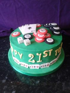 Poker birthday cake.