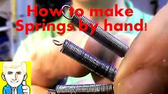 How to make a small spring with a power drill:  How to make Coil Springs from a Steel rope/cable wire by hand!