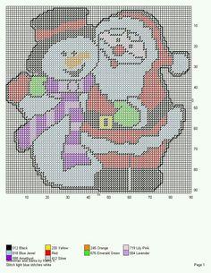 SNOWMAN AND SANTA by KATHY K.