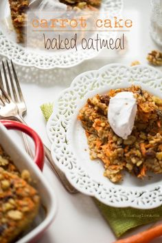 Heavenly Vegan Carrot Cake Baked Oatmeal...you need to make this stat! #glutenfree #vegan