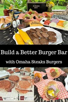 Grilling Season is Here - Build a Better Burger Bar Lime Shrimp Recipes, Low Carb Shrimp Recipes, Burger Bar, Good Burger, Burger Recipes, Pork Recipes, Slow Cooked Pulled Pork, Amazing Burger, Omaha Steaks