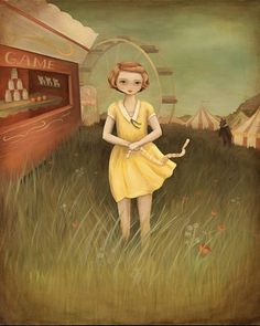 Lost on the Midway Print 11x14 by theblackapple . love the movement and dreamlike quality