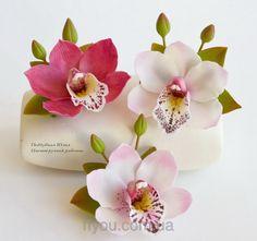 Орхидея (заколка-зажим), фото 1
