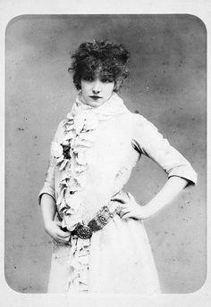 Sarah Bernhardt 1870s by Art & Vintage, via Flickr
