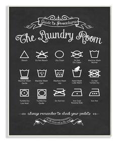 Take a look at this 'Guide to Procedures' Laundry Wall Art today!