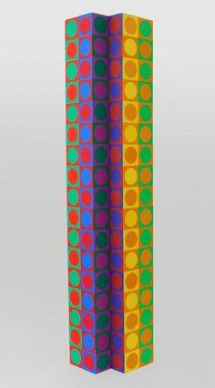 Victor Vasarely Op Art Sculpture