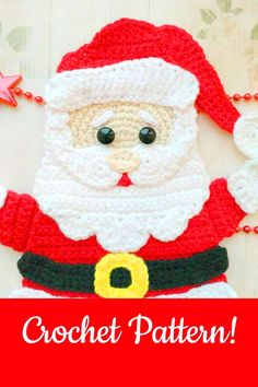It's still Christmas in July! I just love Christmas crochet patterns. Let's continue this theme with some of the cutest Santa Claus crochet applique… Christmas Card Crochet, Crochet Santa, Christmas Applique, Christmas Crochet Patterns, Easy Crochet Patterns, Crochet Dolls, Free Crochet, Diy Christmas Parol, Christmas Wall Art