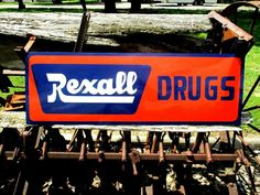 Antique Vintage Old Style Painted REXALL DRUGS  SIGN GENERAL STORE Pharmacy #rexallhandpaintedbyPierce