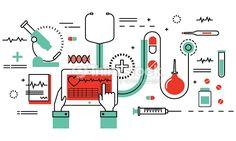 Vector Art : Concept of medicine and healthcare, health control